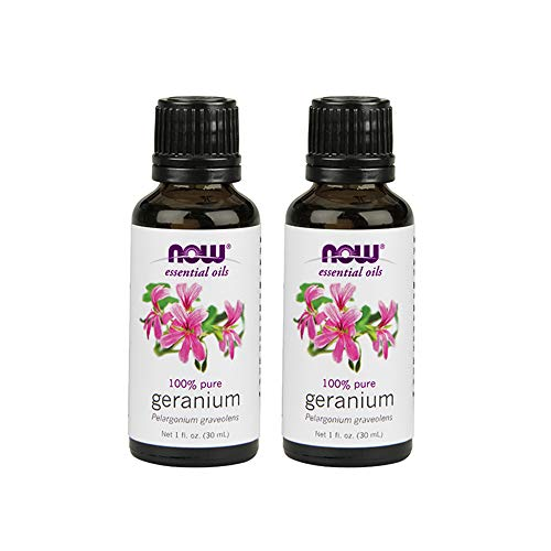 Now Foods Geranium Oil Egyptian, 1-Ounce (Pack of 2)
