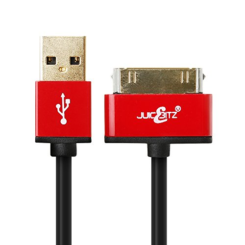 JuicEBitz Premium 22AWG USB Data Sync Charger Cable Lead for iPad 1 2 3, iPhone 4 4S, iPod Touch (3m)