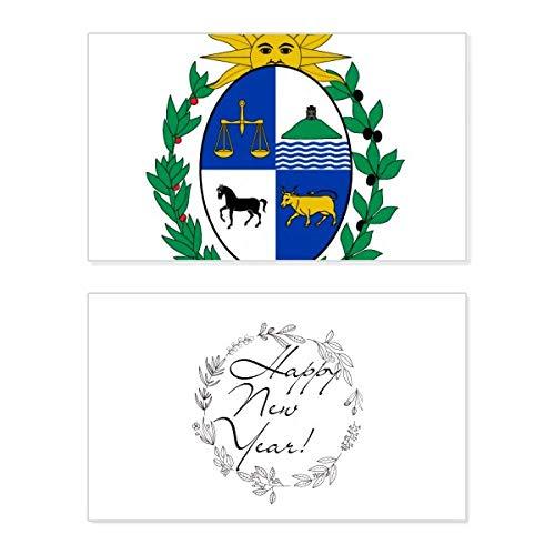 Uruguay Südamerika National Emblem Neujahr Karte Gedenkkarte Segen Nachricht