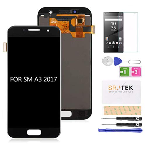 Per Samsung Galaxy A3 2017 A320 Schermo LCD Touch Screen Digitizer Vetro Assemblea di Ricambio per Galaxy A3 (2017) A320F A320F/DS A320Y/DS A320FL Display Parti (non originali Amoled) (nero)