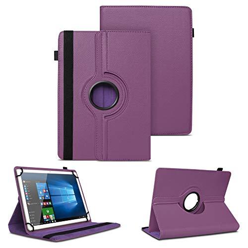NAUC Schutzhülle kompatibel für Archos Copper 101C Tablet Tasche Universal Hülle aus Kunstleder Standfunktion 360 Drehbar Cover Hülle, Farben:Lila