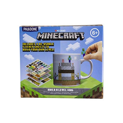 Paladone Products Minecraft Mug Build a Level Kelche Tassen