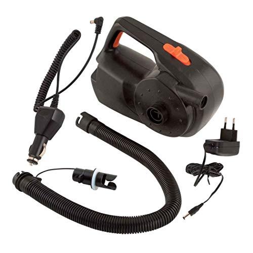 FOX Rechargeable Air Pump/Deflator Akku Elektroluftpumpe, Pumpe für Schlauchboot, Bootspumpe, Luftpumpe für Angelboot 12V / 240V