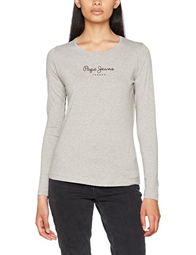 Pepe Jeans New Virginia LS PL502755 T-Shirt, Grigio (Grey Marl 933), Small Donna