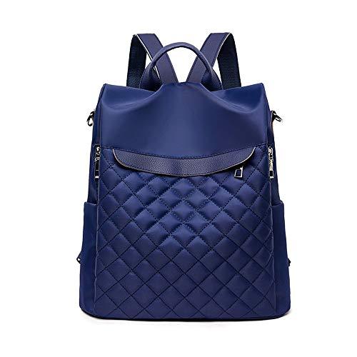 Findkey Rucksack Damen Anti Diebstahl Tasche wasserdichte Umhängetasche Schultertaschen, Blau, 30 x 11 x 31 cm