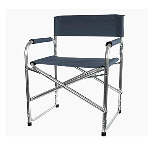 Outdoor Folding Chair,Camp Chair with Side Table,Folding Beach Chair,Portable Deck Chair for Tailgating, Camping & Outdoors (Color : Navy)