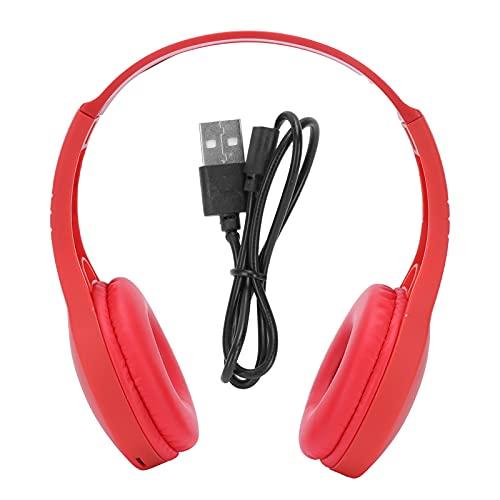 Deror G58 Bluetooth monté sur la tête, Casque d'écouteur monté sur la tête Bluetooth 5.0 Casque Bluetooth stéréo pour Une Utilisation Sportive(Rouge)