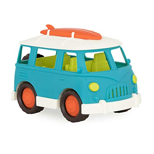 Wonder Wheels by Battat – Camper Van – Toy Truck with Opening Roof & Detailed Interior for Kids Age 1 & Up – 100% Recyclable, Aqua