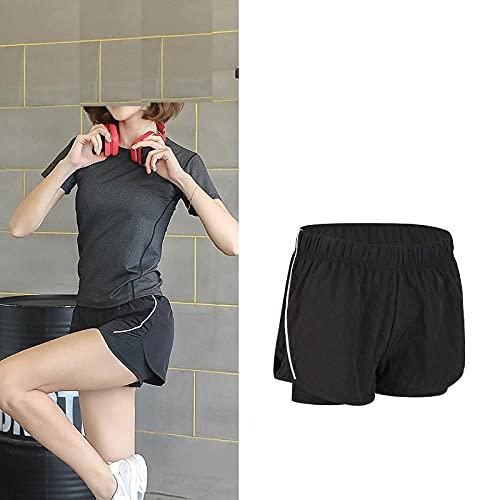 bayrick Cambio Diario,Pantalones Cortos Ajustados de Yoga Falso de Dos Piezas Velocidad Seca Seca Cintura Alta Ropa Casual Pantalones-7_SG