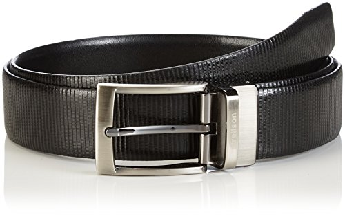 Strellson Premium Herren Belt Gürtel, Schwarz (Black-Black 10-10), 95 cm