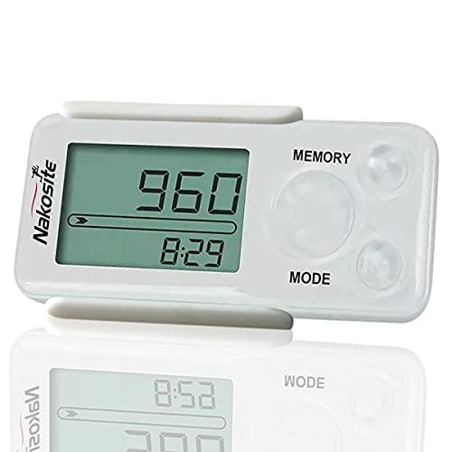 Nakosite PEDI2433-NVW Genauer Schrittzähler ohne app und Handy für Damen Herren Kinder. Entfernung Kalorien Clip kein Bluetooth