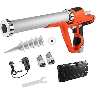 VEVOR Sausage Caulking Gun 10/20-Ounce Electric Caulking Gun Aluminum 300ml Cartridge/600ml Sausage Cartridge Gun Packs 21.6x10.2in Dual-Use Hand Tool 4000N Caulking Gun Kit with 5 Cones Nozzles from VEVOR