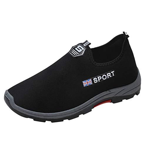 SHOBDW Homme Chaussures Poids Léger Bottes d'escalade Course à Pied Mode Sportive Chaussures Paresseux Résistant à l'usure Respirant Chaussures De Course(Noir,43)