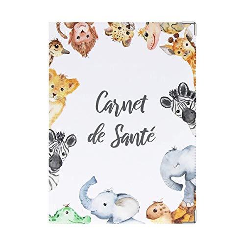 Color Pop® Carnet de santé - ENFANT - 22 X 16 CM - Fabrication française (Blanc imprimé savane)