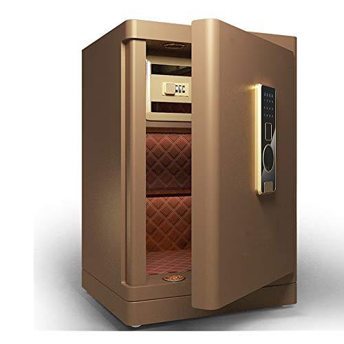 AMRT Kabinettsafes Digitaler Stahl Safety Box große Kapazitäts-Fingerabdruck-Safe Bargeld Home Office-Geld-Kasten für den Einsatz zu Hause oder im Büro (Color : Brown, Size : 42X36X58CM)