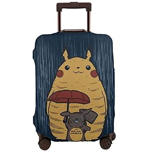 Anime My Totoro P-ikachu Maleta Protector Funda Lavable 3D Diseño 4 Tamaños para la mayoría de Equipaje Bolsa Protectora Cremallera