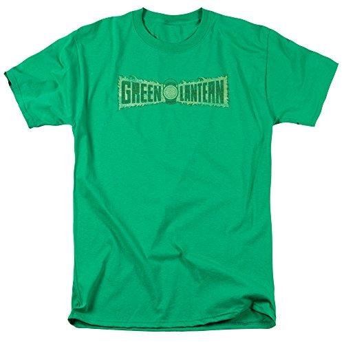 Linterna Verde Llama Mens Logo Camiseta de Manga Corta (Kelly Verde, X-Large)