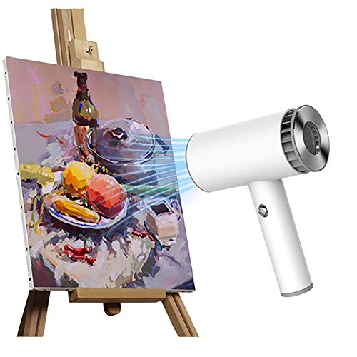 Hair Dryer, with 2 Heat Settings,USB Rechargeable,Cordless Hair Dryer,for Travel Art Painting Home Use