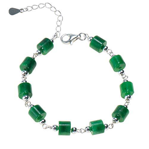 Jade Natural Piedras Preciosas Pendientes Pulsera Verde Plata De Ley 925 Colgante Temperamento Joyeria Navidad Dia De San Valentin Regalo,Bracelets