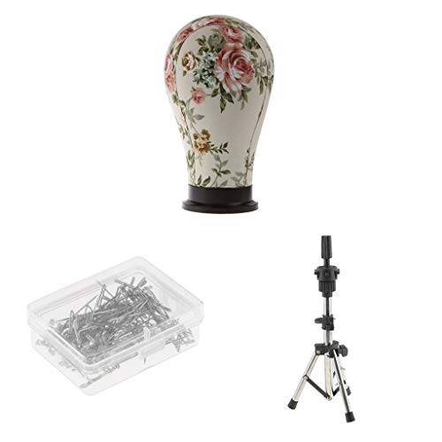 Profi Segeltuch Schaufensterpuppe Kopf Dekokopf Perückenständer Perückenhalter Hutständer Mannequin Kopf mit Tisch Klemme