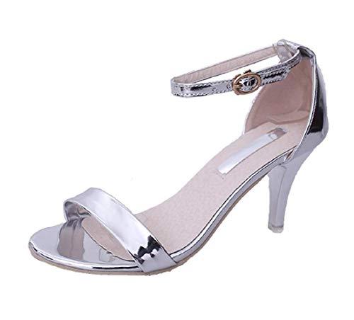 Inception Pro Infinite - Damenschuhe mit hohen Absätzen - Sandalen - glänzend - Größe 37 EU - Weihnachts - Silberne Farbe - und Geburtstagsgeschenkidee
