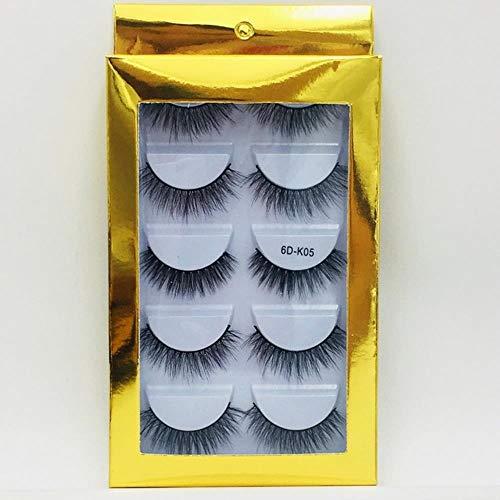 XZY Mixed Styles Hair False Eyelashes Handmade Long Eyelash Wispy Fluffy Multilayer Lashes Reusable,05