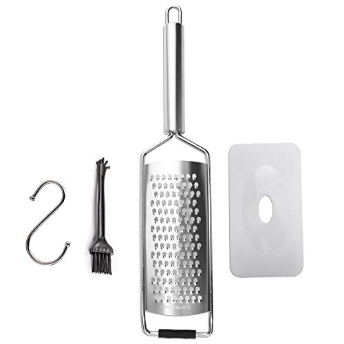 LARY Cheese Grater & Shredder Grater Stainless Steel Razor Sharp Blade Medium Shred Handheld Kitchen Graters For Fruit, Root Vegetables, Chocolate, Nuts, Parmesan Cheese