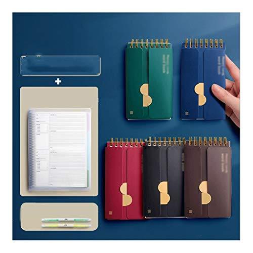 BENO Cuaderno clásico Anillo-Tipo portátil Notebook, Memorizar Wordbook Journal, luz de Color/del Color Oscuro del Diario, for la Escuela de Negocios, Papel Premium 3-10 Packs