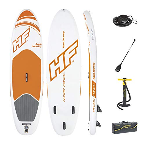 Hydro-Force Aqua Journey Inflatable Stand Up Paddle Board, 9' x 30' x 6' | Inflatable SUP for Adults...