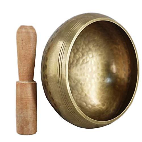 Juego de Cuencos de Yoga de meditación curativa, Platos Decorativos de Pared, resonancia con mazo, Cuenco Tibetano Hecho a Mano para Cantar (tamaño: 8 cm)