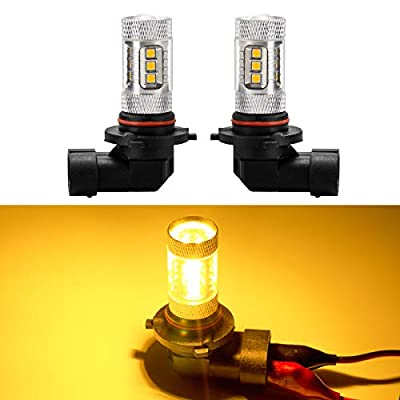 Yaoho 9005 9006 H10 16SMD 80W High Power LED Fog Light Bulbs (Pack of 2)