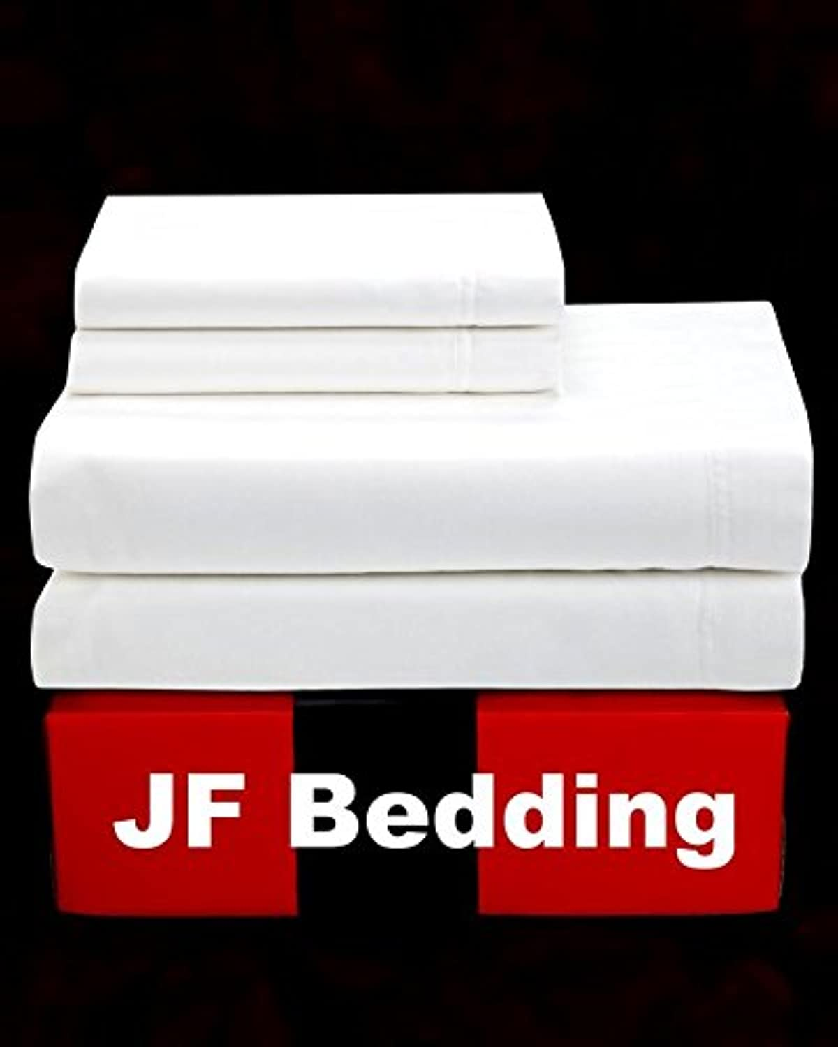 Jose Farmer Bedding Hotel Quality 1200 Thread Count 100% Egyptian Cotton Ultra Soft 4 Piece Bed Sheet Set Fitt Up to 15  Deep Pocket 1200TC (White, Cal-King)