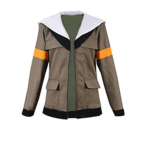 Anime Lance Cosplay Costume Brown Hoodie Coat Jacket (S)
