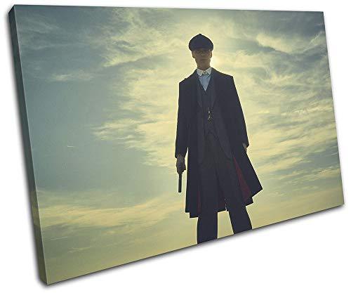Bold Bloc Design - Peaky Blinders Thomas Shelby TV 45x30cm Single Caja de Lamina de Arte Lienzo Enmarcado Foto del Colgante de Pared - Listo para Colgar Canvas Print 13-4012(00B)-SG32-LO-A