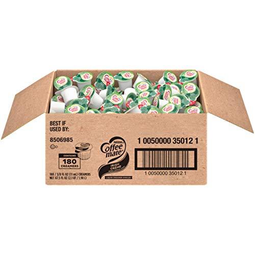 Nestle Coffee Mate Coffee Creamer, Irish Creme, Liquid Creamer Singles, Non Dairy, No Refrigeration, Box of 180 Singles