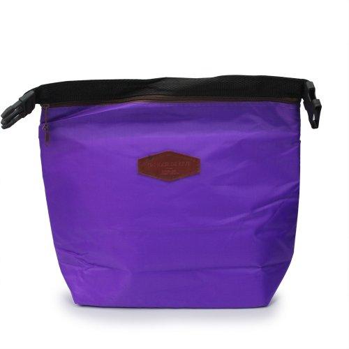 Sac à Déjeuner Pique-nique Portable Couleur Violet Thermique Glacière Isotherme