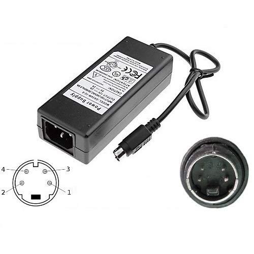 CARGADOR ESP ® Cargador Corriente 12V 5V 2A 4 Pin Mini DIN Compatible con Reemplazo Jentec Technology CO LTD JTA0202Y Recambio Replacement