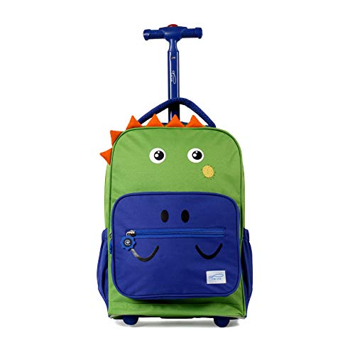 TWISE SIDE-KICK SCHOOL, TRAVEL ROLLING BACKPACK FOR KIDS AND TODDLERS PARENT (DINO)
