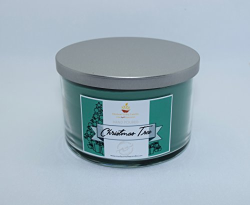 Pine Tree Scented Soy-Based Candles for Christmas