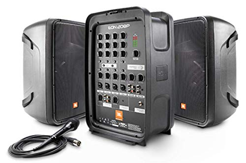 JBL EON208P 8-inch 2-Way Portable PA System, Black