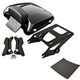 TCMT Razor Tour Pack Trunk Backrest Mount Rack Docking Kit Fits For Harley Touring Models 2014-2020 (Black, Style A)