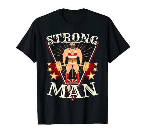 Camisa Deadlift - Disfraz vintage de circo Strongman Camiset