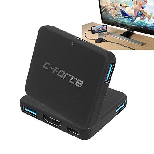 Tutoy C-Force Cf003 Type-C USB 3.1 4K Display Hub USB Docking voor Nintendo Switch voor Samsung S8