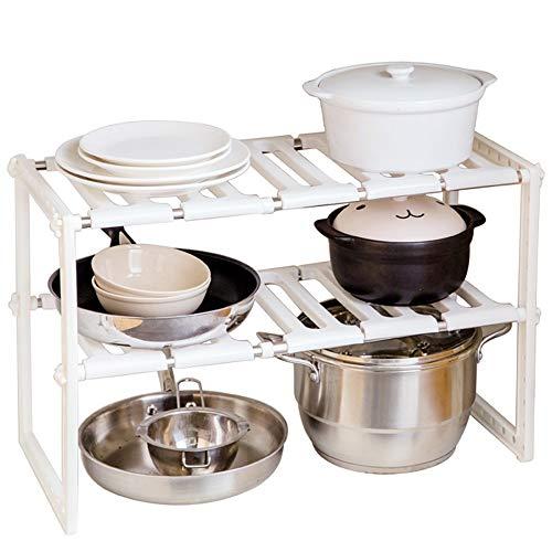 MaikcQ Estante para secar platos de cocina de varias capas, estante telescópico para fregadero, estante para macetas de almacenamiento, zapatos de Sundries