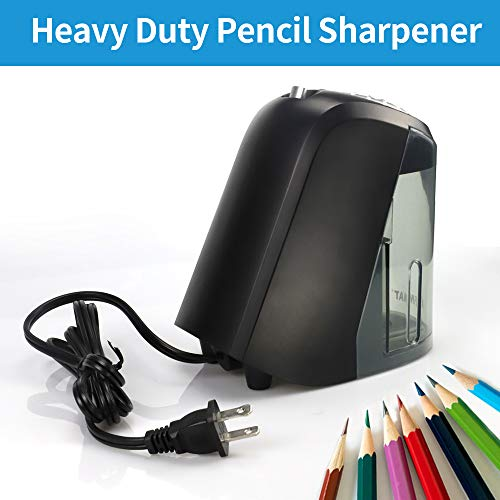 AFMAT Electric Pencil Sharpener Heavy Duty, 6 Holes, Large Adjustable Pencil Sharpener for Artists, Super Quiet Classroom Electric Sharpener with Helical Blade, Auto Stop for 6-11mm Jumbo Pencils Photo #3
