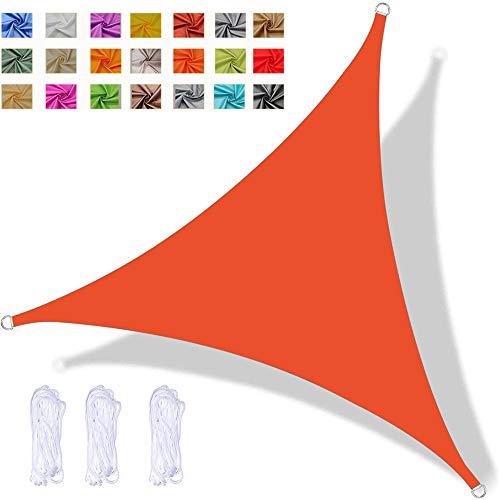 YAOYI Toldo Vela De Sombra Triangular, Toldo Impermeable, Protección UV, para Fiesta En El Patio De La Terraza del Jardín Al Aire Libre, con Cuerda (6x6x6m,Naranja)