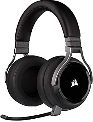 Corsair Virtuoso RGB Wireless High-Fidelity Gaming Headset (7.1 Surround Sound, Memory Foam Earpads, Omni-Directional Microphone with PC, PS4, Switch and Mobile Compatibility) - Carbon by Corsair