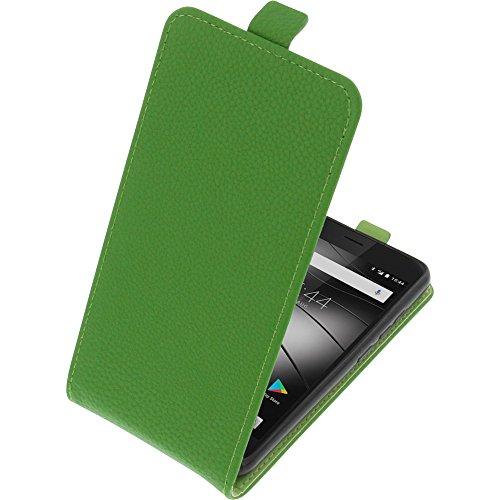 foto-kontor Tasche für Gigaset GS270 / GS270 Plus Smartphone Flipstyle Schutz Hülle grün