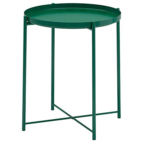 IKEA GLADOM mesa bandeja 52,5x Ø44,5 cm verde