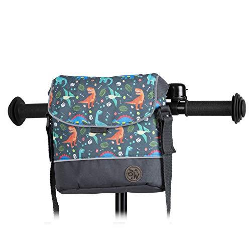 BambinIWelt Lenkertasche für Roller und Fahrrad, Fahrradtasche für Kinder, wasserabweisend, mit Schultergurt, für alle Puky Räder und Roller(Modell 16)